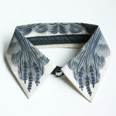 Wheat Collar - Silk and Leather - Jen Storey Collaboration