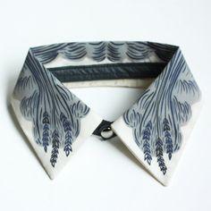 """Detachable Silk Shirt Collar - """"Wheat"""" - Jen Storey Collaboration"""