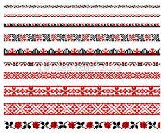 Ornamentos de bordado ucraniano — Ilustração de Stock #4807069
