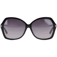 TOM FORD Caro Cat Eye Sunglasses ($185) ❤ liked on Polyvore featuring accessories, eyewear, sunglasses, glasses, black, metal-frame sunglasses, cat-eye glasses, oversized cat eye sunglasses, tom ford sunglasses and logo sunglasses