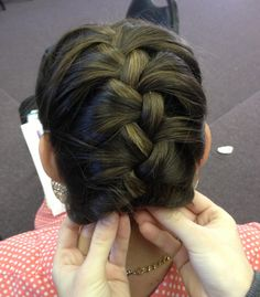 Short hair? French braid and tuck!