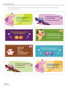 Valentines Day Lunchbox Notes FREE Printables