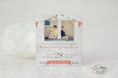 Vintage Bunting Save the Date Magnets