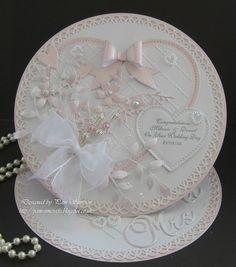 Easel Wedding Card.   docrafts.com