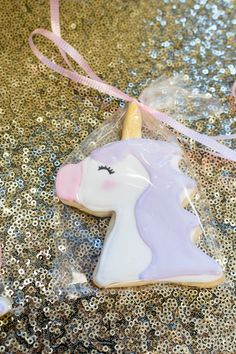 sugar cookie cookies unicorn cutter rolled royal icing birthday party favor