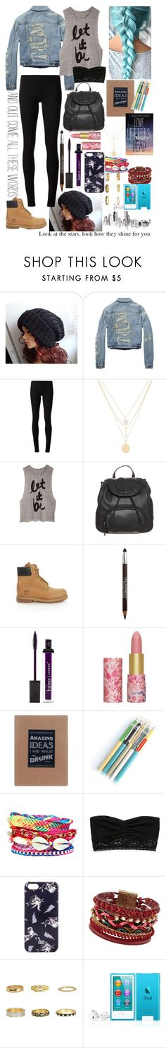 """A Sky Full Of Stars"" by jessybae ❤ liked on Polyvore featuring Scotch & Soda, The Row, Henri Bendel, Anna Field, Timberland, Maybelline, Butter London, tarte, Kikkerland and Boohoo"