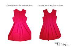 Confectionarea corsajului partii din fata cu fusta si a partii din spate cu fusta Little Red Dress, Summer Dresses, Formal Dresses, Fashion, Dresses For Formal, Moda, Summer Sundresses, Formal Gowns, Fashion Styles