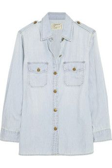 Current/Elliott The Perfect cotton-chambray shirt | NET-A-PORTER
