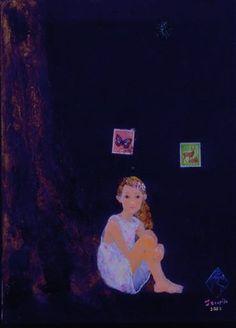 写真: 御好評いただいています TERAKADO TAKAYUKI NOW AND THEN 2014 、本日が最終日です。 懐かしい作品も色色…写真は「闇の妹のそのまた妹」2002年  http://www.terapika.com/files/todaysterapika_files/2014/05/10/