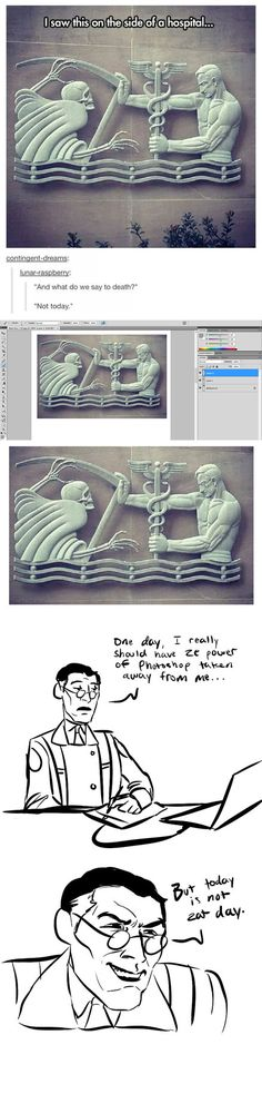 monument of ego by infamously-dorky on DeviantArt – funny photoshop Really Funny, Funny Cute, Hilarious, Tf2 Funny, Tf2 Memes, Medical Humor, Medical Care, Lol, Team Fortress 2