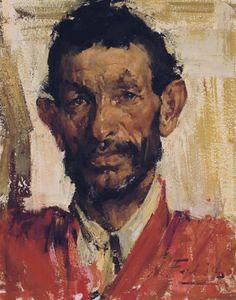 Nicolai Fechin (1881-1955) | Portrait of a Man | Paintings, canvas ...