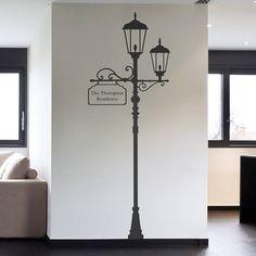 personalised london lamp post wall sticker by oakdene designs | notonthehighstreet.com