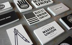 Unique Business Card, Makers Union #BusinessCards #Design (http://www.pinterest.com/aldenchong/)