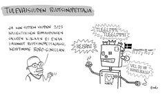 KKY_syyskuu_2015_sarjis Robot, Peanuts Comics, Robots