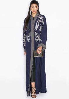 Blossom Embroidered Kimono Fashion – Girls Hijab Style   Hijab Fashion  Ideas Modern Abaya 8fdef9d73d6a