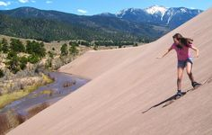 84d46eeeb Mosca, Colorado: Zip down hills at Great Sand Dunes National Park on a sled  (from the Oasis Store) built for the desert