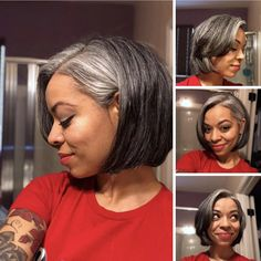 XMAS EVE 2017 – 14 months progress and loving my new cut! XMAS EVE 2017 – 14 months progress and loving my new cut! Natural Hair Bob, Natural Hair Styles, Grey Hair Don't Care, Grey Hair Bob, Grey Hair And Makeup, Grey Bob, Silver Haired Beauties, Grey Hair Inspiration, Gray Hair Growing Out