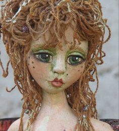 Libelle - Dragonfly - Doll Street Dreamers -online doll classes, e-patterns, mixed media art classes, free doll patterns and more