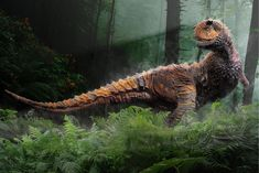 Carnotaurus /ˌkɑrnɵˈtɔrəs/ is a genus of large theropod dinosaur that lived in South America during the Late Cretaceous period, between about 72 and 69.9 million years ago. The only species is Carnotaurus sastrei. (Wikipedia)