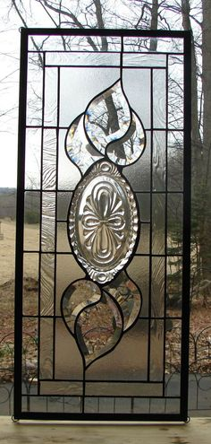 stained glass panel Cambridge Caprice with bevels
