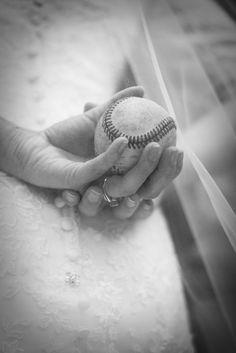 Baseball Wedding Bride Photo