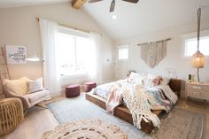 Lay back with a book in this easy, Boho-chic teen bedroom.