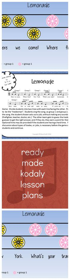 FREE 25+ page packet to show you my new KODALY COOKBOOK. Sequential lesson plans with visuals, SMART board files and songs/games. Kodaly inspired... MusicForAll