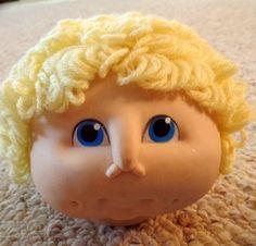 Craft supplies  Vintage rubber doll head a by PreciousMemoriesOne