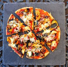 Crispy-Based Roasted Vegetable Pizza (with gluten, dairy & egg free base) - gluten free alchemist