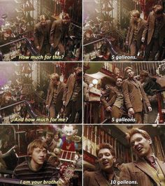 When they called out Ron for trying to sneak a deal: 21 Times Fred And George Weasley Proved They Were The True Stars Of Harry Potter Harry Potter Tumblr, La Saga Harry Potter, Mundo Harry Potter, Images Harry Potter, Harry Potter Jokes, Harry Potter Universal, Harry Potter Fandom, Yer A Wizard Harry, Weasley Twins
