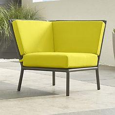 Morocco Sectional Corner with Sunbrella ® Cushion