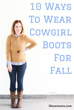 I actually don't own a pair of cowgirl boots yet, but after looking at some seriously stylish ladies rocking a pair, that may change! Take a look at these 10 ways to strut your southern stuff this fall, and then slip on those cowgirl boots because they were made for more than walkin'!