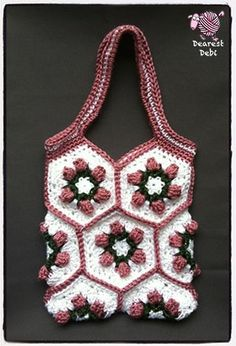 Make some hexagons and turn them into a purse. Free pattern on my blog…