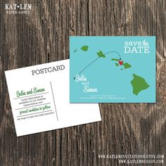 Hawaii – Save the Date – Maui, Honolulu, Kaui, Big island Destination Wedding – Wedding Save the Dates on Etsy, $15.00