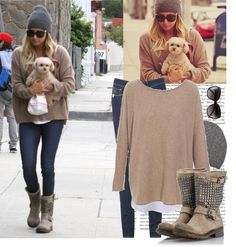 """""""Ashley Tisdale with puppy out in LA #dresslike"""" by totallymileynessafan ❤ liked on Polyvore"""