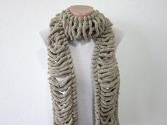 Hand knitting Long Scarf Mulberry Scarf Brown Pompom by nurlu Holiday Fashion, Winter Fashion, Winter Accessories, Accessories Shop, Pompom Scarf, Scarf Sale, Long Scarf, Womens Scarves, Tejidos