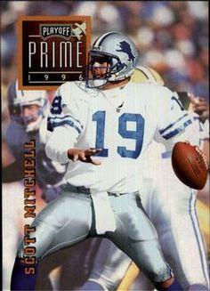 1996 Playoff Prime #27 Scott Mitchell - Detroit Lions.