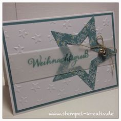 Stampin Up Weihnac… Stampin Up Christmas at home – cards crazy Christmas Card Crafts, Stampin Up Christmas, Holiday Cards, Quilling Christmas, Karten Diy, Itunes Gift Cards, Christmas Challenge, Star Cards, Diy Cards
