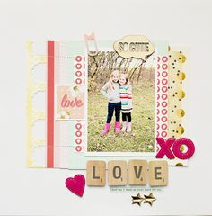 #Papercraft #scrapbook #layout.  LOVE by A2Kate at @studio_calico
