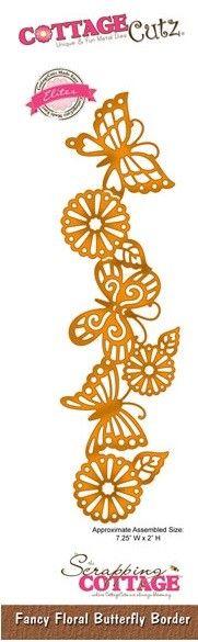 Cottage Cutz - Die - Fancy Floral Butterfly Border