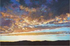 Glorious (pastel, 24x36) by Liz-Haywood Sullivan, author of Painting Brilliant Skies & Water in Pastel ~ch #FineArt