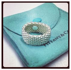 Tiffany mesh ring I love