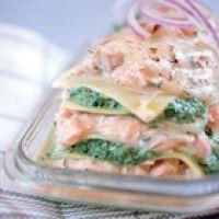 Eten Recept Vis Lasagne zalm spinazie