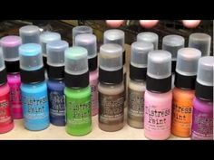 Distress Paints from Tim Holtz!  Check out the video to see how to use them!