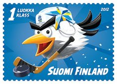 HockeyBird Stamp from Finland for ice hockey world championship tournament Angry Birds, Journal Du Geek, Hockey World, Ice Hockey Teams, Postage Stamp Art, First Day Covers, Fauna, Stamp Collecting, World Championship