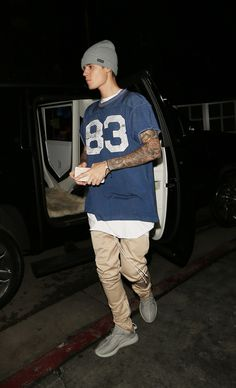 Arriving at his AMAs after party at The Nice Guy in Los Angeles. - Seventeen.com