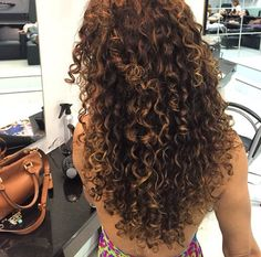 healthy natural curly hair