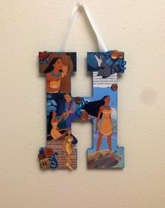 Disney Wooden Letter H done in Pocahontas 11 by SpikaInteriors
