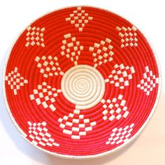 Plateau Basket Red And White, $38, now featured on Fab.