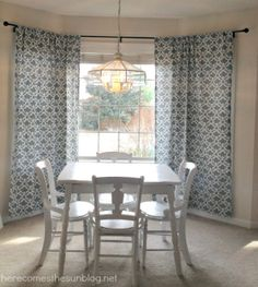 diy bay window on pinterest bay window curtains bay windows and hanging curtains. Black Bedroom Furniture Sets. Home Design Ideas